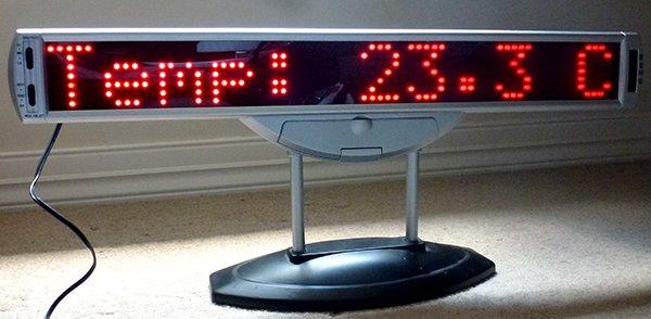Scrolling LED sign