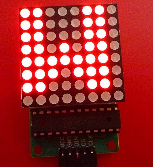 MAX7219 with 64-LED matrix