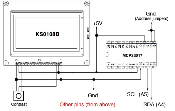 MCP23017 connected to Arduino